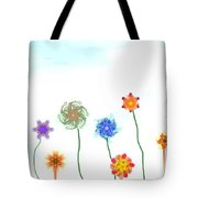 Silly Fractal Garden Tote Bag