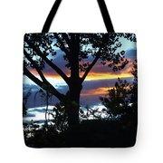 Silohuettes Of Trees Tote Bag
