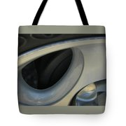 Silver Abstract Tote Bag
