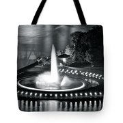 Silver And Black Tote Bag