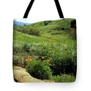 Silver And Green Tote Bag
