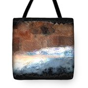 Silver Beach  Tote Bag
