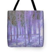 Silver Birch Magical Abstract  Tote Bag