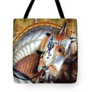 Silver Carousel Horse II Tote Bag