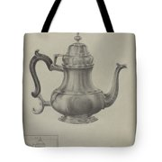 Silver Coffee Pot Tote Bag