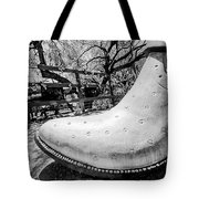 Silver Cowboy Boot Tote Bag