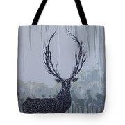 Silver Deer Tote Bag