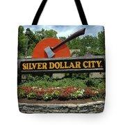 Silver Dollar City Sign Tote Bag