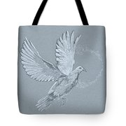 Silver Dove Tote Bag