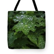 Silver Droplets Tote Bag