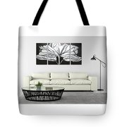 Silver Flower Oil Painting Tote Bag