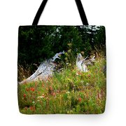 Silver Forest Meadow Tote Bag by Christine Burdine