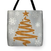 Silver Gold Tree Tote Bag
