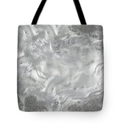 Silver Gray Abstract Minimalist Painting  Tote Bag