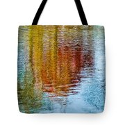 Silver Lake Autumn Reflections Tote Bag