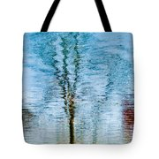 Silver Lake Tree Reflection Tote Bag
