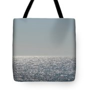 Silver Light On Lake Michigan Tote Bag
