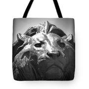 Silver Lion Tote Bag
