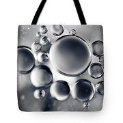 Silver Macro Droplets Tote Bag