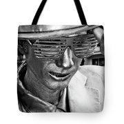 Silver Man Mime Tote Bag
