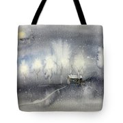 Silver Night Tote Bag
