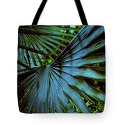 Silver Palm Leaf Tote Bag