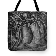 Silver Sands- Saddle And Boots Tote Bag