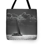 Silver Sea Sailboat Delray Beach Florida Tote Bag