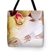 Silver Service Breakfast Setting Tote Bag