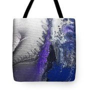 Silver Spill Tote Bag