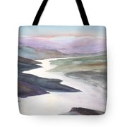 Silver Stream Tote Bag