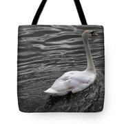 Silver Swan Tote Bag