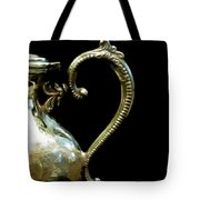 Silver Tea Pot Handle - Digital Oil Art Work Tote Bag