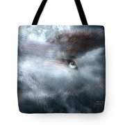 Silver Wolf Tote Bag