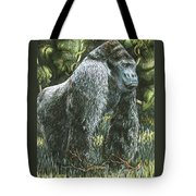 Silverback-king Of The Mountain Mist Tote Bag