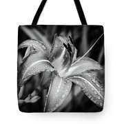 Silvered Lily Tote Bag
