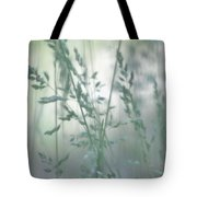 Silvery Green Grasses Tote Bag