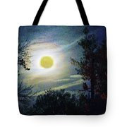 Silvery Moon Glow Tote Bag