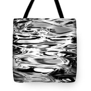 Silvery Water Ripples Tote Bag