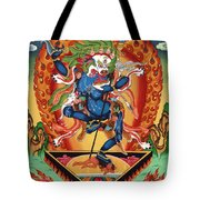 Simhamukha - Lion Face Dakini Tote Bag