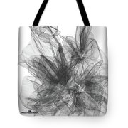 Simple Black And White Abstract Tote Bag
