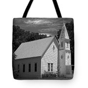 Simple Country Church - Bw Tote Bag