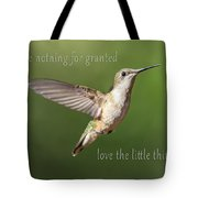Simple Country Truths Hummingbird Tote Bag