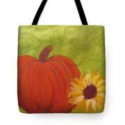 Simple Lone Pumpkin Tote Bag