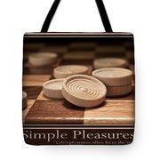 Simple Pleasures Poster Tote Bag