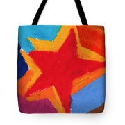 Simple Star-straight Edge Tote Bag