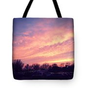 The Beauty Of A Supermarket Parking Lot Tote Bag