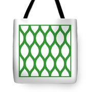 Simplified Latticework With Border In Dublin Green Tote Bag