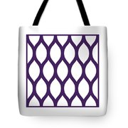 Simplified Latticework With Border In Purple Tote Bag