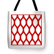 Simplified Latticework With Border In Red Tote Bag